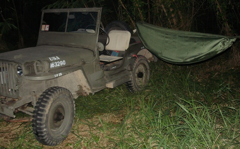 NoNet Hammock with FordMB Jeep
